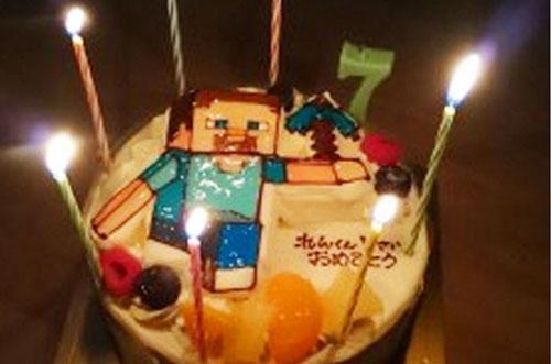 【ありがとうの声】立体キャラケーキで息子が大喜びの誕生日祝いに♪
