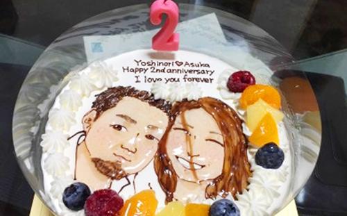 【ありがとうの声】特別な似顔絵ケーキで素敵なお祝いになりました!
