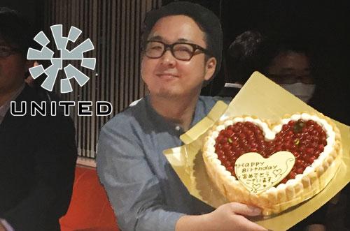 【ユナイテッド株式会社さま】バースデーケーキを社員の誕生日祝いに