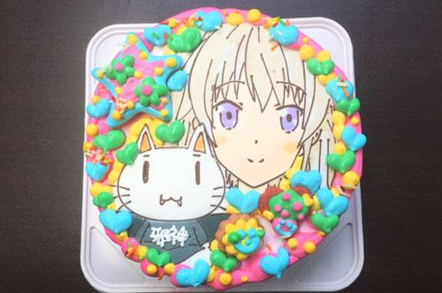【株式会社e-notionさま】イラストケーキでアニメキャラの誕生日祝い