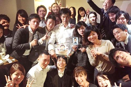 【株式会社イノベーションさま】社長の誕生日祝いに似顔絵ケーキ!