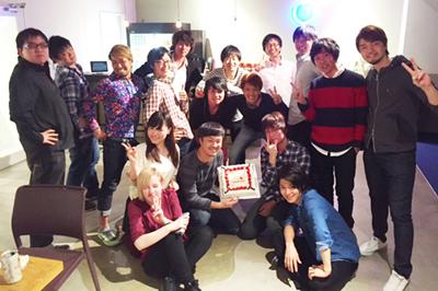 【トランスリミットさま】設立2周年祝いに写真ケーキでサプライズ