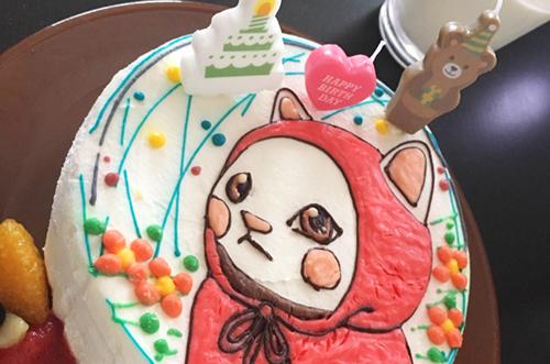 【株式会社エージェントさま】イラストケーキで同僚が喜ぶ誕生日祝い
