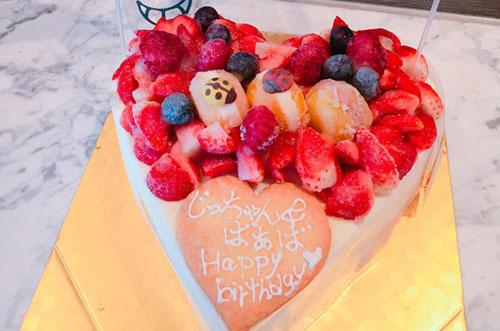 鈴木あやさんが家族に贈ったハートのアイスケーキが素敵すぎる♡