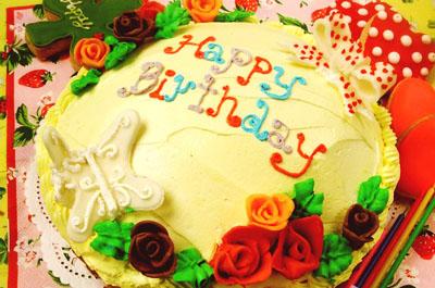 ビッグサイズのバースデーケーキで大人数の誕生日パーティーを♪