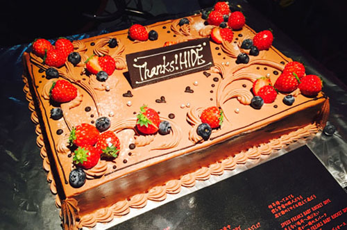 【大手カメラ専門店A社さま】上司の方の送別会がケーキで大成功♪