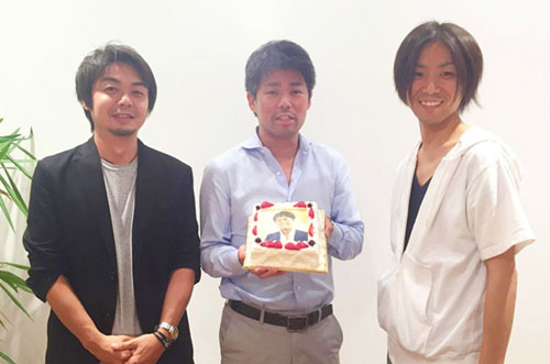 【Glossom株式会社さま】ケーキでランサーズさまとの絆深まるお祝い