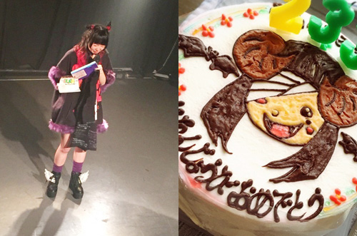 魔法吸血鬼少女・星名ふみみ生誕祭にイラストケーキで感動サプライズ