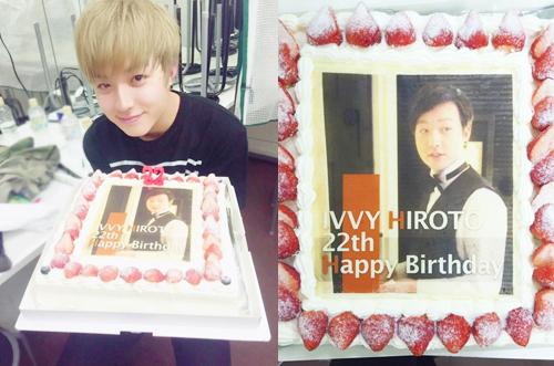 【IVVY】HIROTOさん生誕祭ライブに写真ケーキのサプライズ