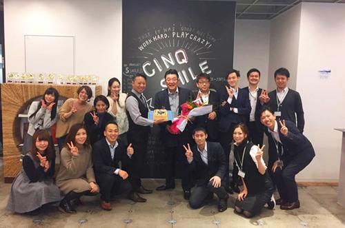 【株式会社シンクスマイルさま】写真ケーキで起業30周年祝い!