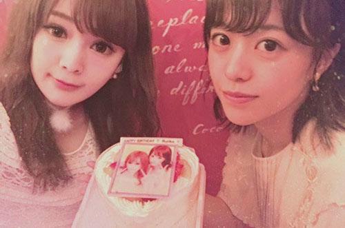 本多胡桃さんがハート型写真ケーキでラブリーなバースデー女子会♡