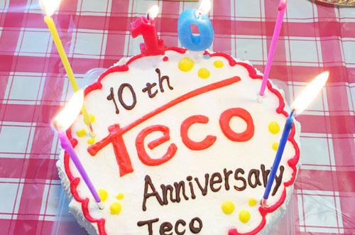 【株式会社テコさま】ロゴ入りケーキで大盛況の創立10周年祝い!