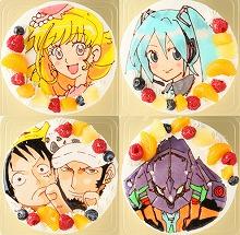 フルーツが添えられキャラクターが描かれている