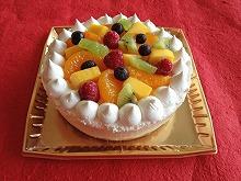 フルーツキャラメルアイスケーキ