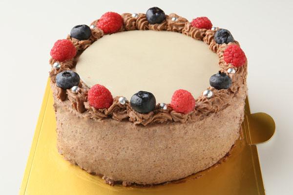 チョコレート生クリームのフォトケーキ 7号 21cmの画像2枚目