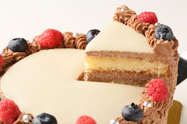チョコレート生クリームのフォトケーキ 7号 21cmの画像3枚目