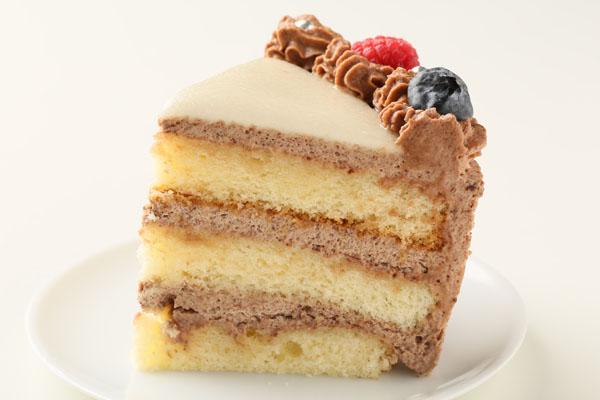 チョコレート生クリームのフォトケーキ 7号 21cmの画像4枚目