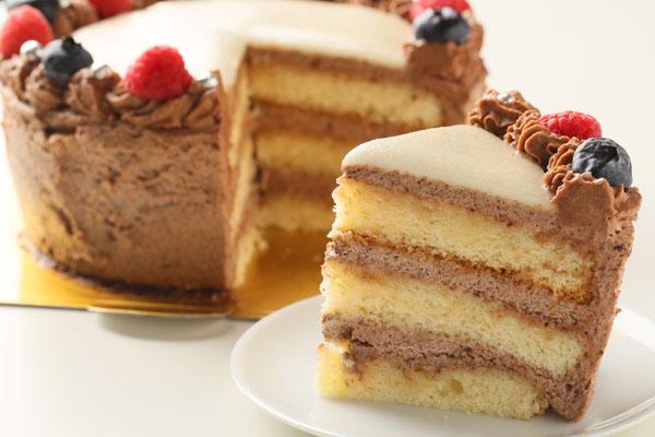 チョコレート生クリームのフォトケーキ 7号 21cmの画像5枚目