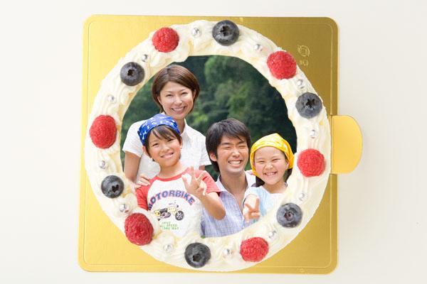 生クリームのフォトケーキ 4号 12cm