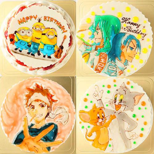 キャラクターイラストケーキ 4号 12cm
