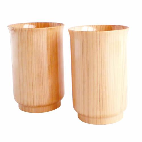 匠・ひのきグラス2Pセット【誕生日 バースデー ギフト 贈り物 プレゼント 酒器 木製】の画像1枚目