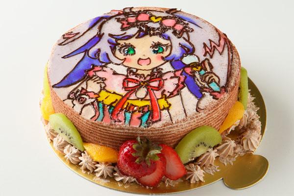イラスト1体のみ お絵かきケーキ 5号 15cmの画像4枚目