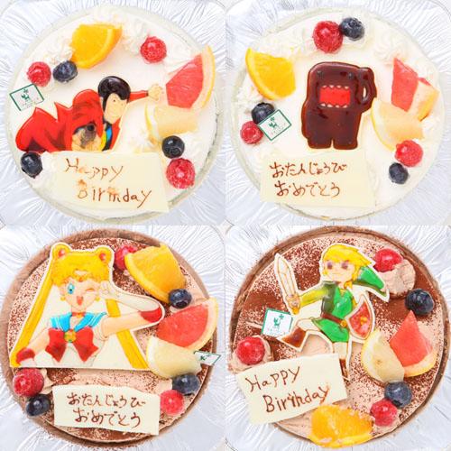 手描きイラストケーキ5号