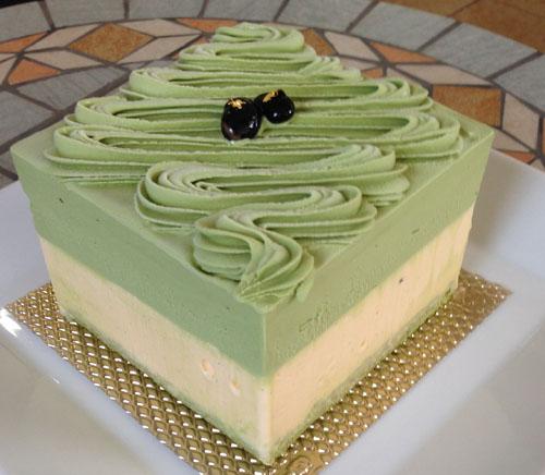 ヴェルデマーレ 〜ラテ緑色鮮やかな抹茶のアントルメグラッセ(アイスケーキ)〜 12cm(4~6人用)の画像2枚目