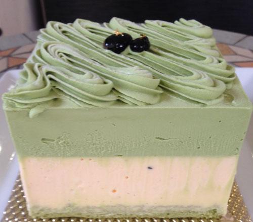 ヴェルデマーレ 〜ラテ緑色鮮やかな抹茶のアントルメグラッセ(アイスケーキ)〜 12cm(4~6人用)の画像4枚目