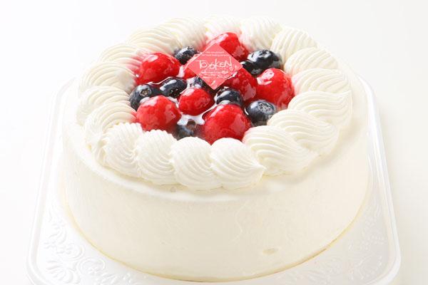 いちごの生デコレーションケーキ 5号 15cm