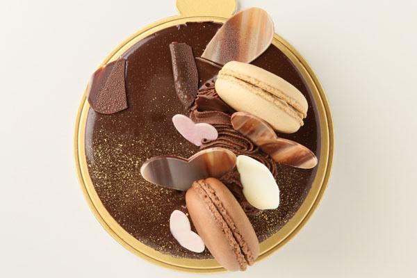 チョコとコーヒーのムース 4号 12cmの画像2枚目