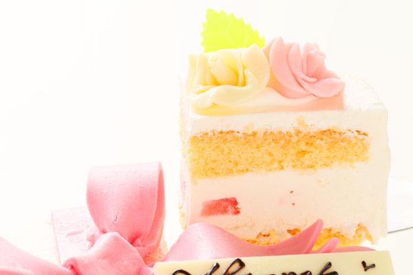 プレゼントボックスケーキ W ホワイト 15×5cmの画像3枚目