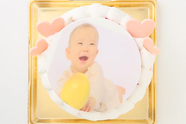 写真プレート付き 苺デコレーション フォトケーキ 4号 12cmの画像2枚目