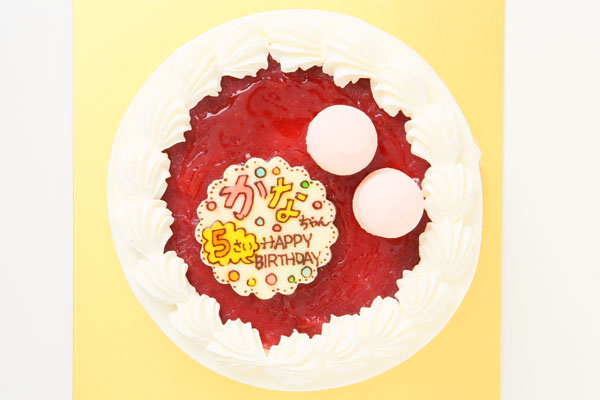 小麦粉除去 米粉の生クリームデコレーションケーキ!プチマカロン付!魚沼産コシヒカリ使用でしっとり!ふわふわ!4号12cmの画像2枚目