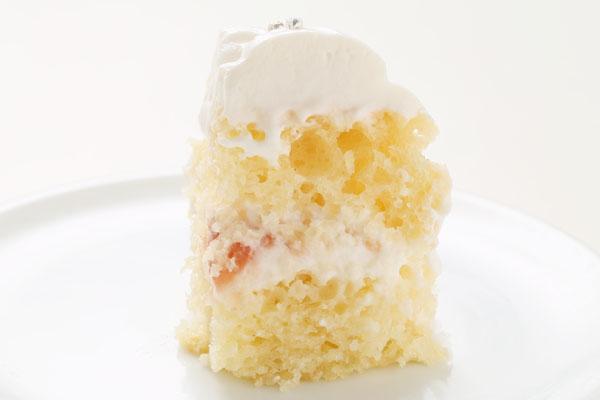 卵除去 シンプルかわいいデコレーション アレルギー対応ケーキ 4号 12cmの画像4枚目