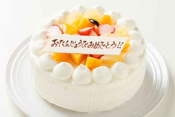 極上スペシャル福岡生クリームのフルーツデコレーションケーキ4号サイズ(12センチ)