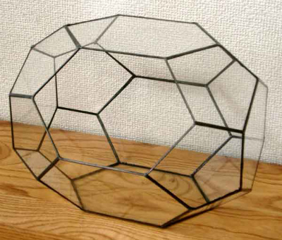 ペンタゴン250【テラリウム 水槽 植木 ステンドグラス】の画像2枚目