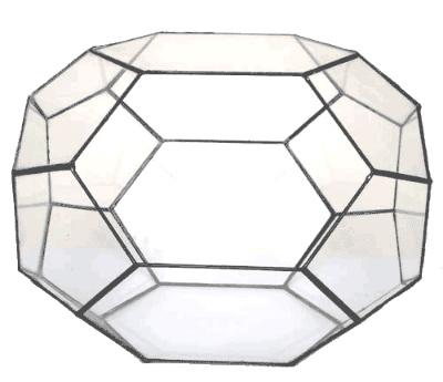 ペンタゴン250【テラリウム 水槽 植木 ステンドグラス】の画像3枚目