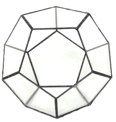ペンタゴン150【テラリウム 水槽 植木 ステンドグラス】の画像2枚目