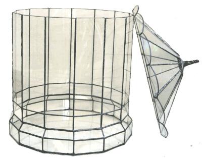 ハウス500【テラリウム 水槽 植木 ステンドグラス】の画像2枚目
