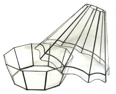 ハウス200【テラリウム 水槽 植木 ステンドグラス】の画像3枚目