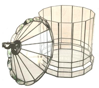 ハウス220【テラリウム 水槽 植木 ステンドグラス】の画像2枚目