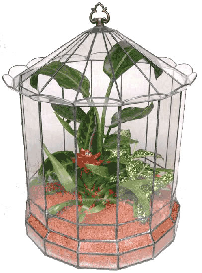 ハウス500【テラリウム 水槽 植木 ステンドグラス】の画像1枚目