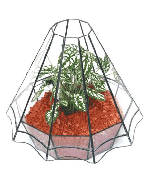ハウス200【テラリウム 水槽 植木 ステンドグラス】の画像1枚目