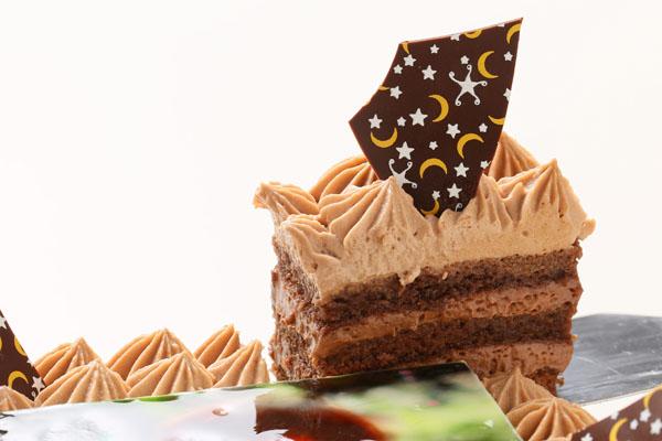 スクエア型フォトチョコ生クリームデコレーションケーキ 11cmの画像2枚目