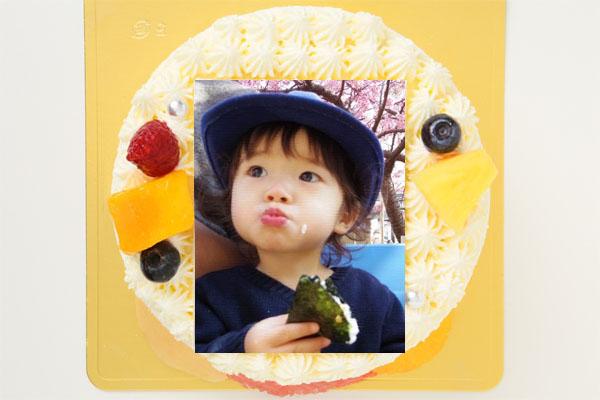 丸型フォト生クリームデコレーションケーキ4号