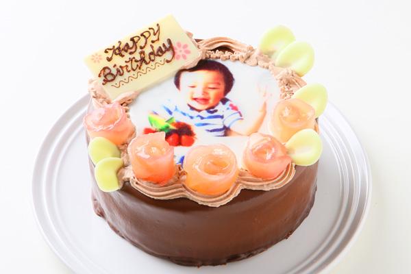 【青森県産リンゴ使用】フォトチョコレートケーキ 5号 15cmの画像2枚目