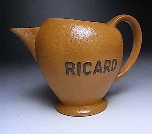 フランスアンティーク陶器 Ricard ピッチャー ジャグ丸形(フランス)【誕生日 バースデー ギフト 贈り物 プレゼント お祝い アンティーク 磁器 陶器】の画像1枚目