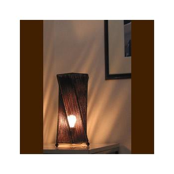 バリ島手作り インテリアランプ ツイスト6角型【インテリア 照明 誕生日 バースデー ギフト 贈り物 プレゼント お祝い】の画像1枚目