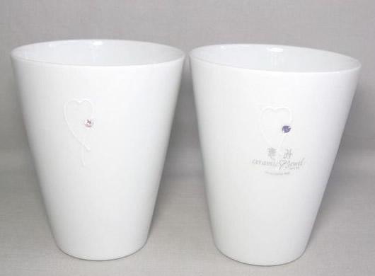 【有田焼】 恵み ホワイト ペアサワーカップ【誕生日 バースデー ギフト 贈り物 プレゼント お祝い 焼き物 食器】